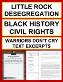Black History Civil Rights Warriors Don't Cry (Excerpt) Reading Comprehension