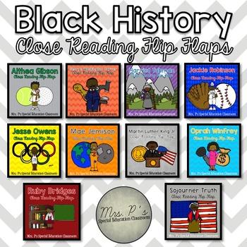 Black History Close Reading Flip Flaps