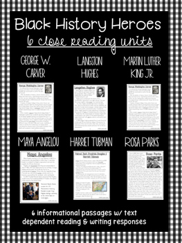 MLK Day & Black History Month Close Reading Unit
