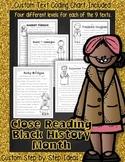 Black History Month: Close Read & Text Coding Common Core Google Slides™ & PDFs