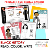 Black History Color-Write-Comprehend for Primary Learners