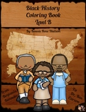 Black History Coloring Book-Level B