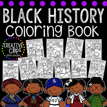 Black History Coloring Book {Made by Creative Clips Clipart}