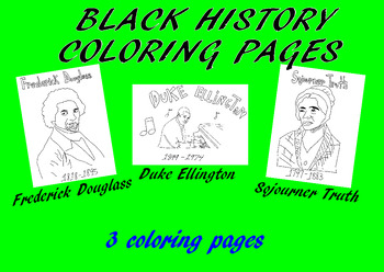 Black History Coloring Teaching Resources | Teachers Pay Teachers