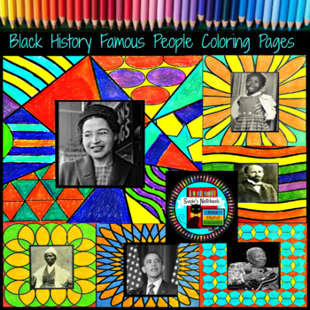 Black History Coloring Pages 40 Famous African Americans by Susie\'s ...
