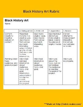 Black History Committee Pack
