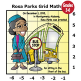 Rosa Parks Activity (Mystery Puzzle, Coordinate Graphing Picture)
