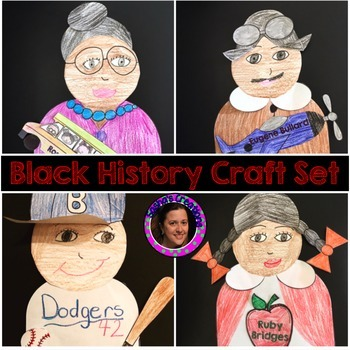 Black History Crafts for Rosa Parks,Jackie Robinson,Ruby B