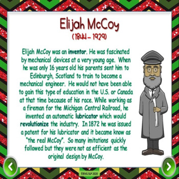 Black History Digital Comprehension Unit Four in a Row  - BOOM Cards and PDF