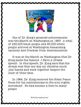 Black History:  Dr. Martin Luther King, Jr.
