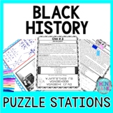 Black History ESCAPE ROOM: Black History Month, MLK, Tubman, Bridges & more