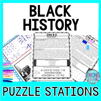 Black History PUZZLE STATIONS: Black History Month, MLK, Tubman, Bridges & more