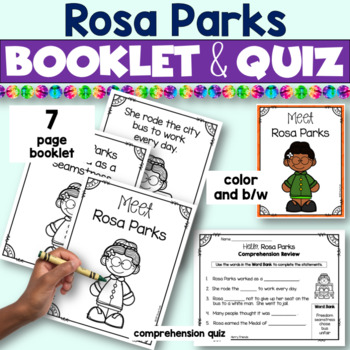 Black History Month Activities - Rosa Parks Emergent Reader