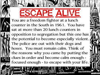 Black History Escape Review Task Card Game Activity