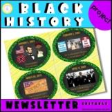 Black History Event Calendar Project (Editable)