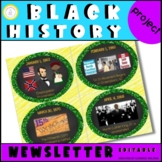 Black History Event Calendar Project (Editable)