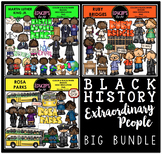 Black History -Extraordinary People Clip Art Bundle {Educlips Clipart}