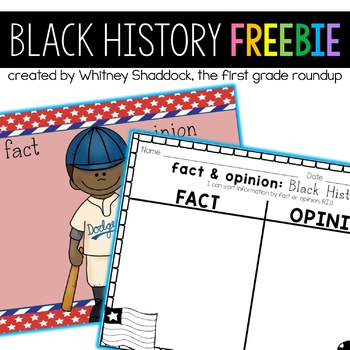 Black History Fact and Opinion FREEBIE