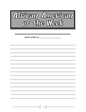 Black History/Famous African American Project Essay Final Draft Paper