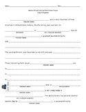 Black History/Famous African American Project Essay Graphic Organizer
