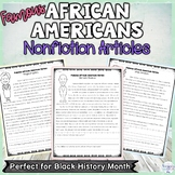Black History Famous African Americans Nonfiction Reading