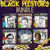 BLACK HISTORY MONTH ACTIVITIES: BIOGRAPHIES, WEBQUESTS, GROWTH MINDSET BUNDLE