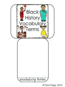 Black History Foldables Unit, Common Core