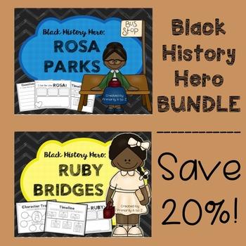 Black History Hero BUNDLE {Rosa Parks & Ruby Bridges}