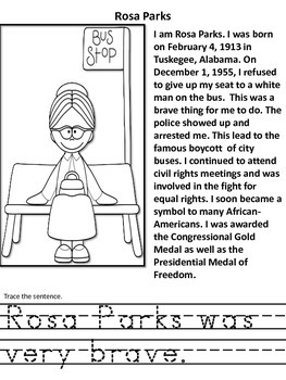Black History Hero  Book Information, Coloring and Tracing Book