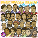 Black History Heroes Clip Art: crayon effect clipart