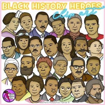 black history heroes clip art crayon effect clipart by teachers rh teacherspayteachers com black history border clipart black history 2017 clipart