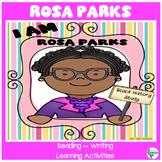 Black History I Am Rosa Parks Reading, Literacy Activities