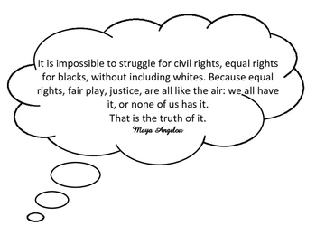 Black History Icons Quote Bubbles
