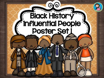 Black History Influential People Poster Set 1