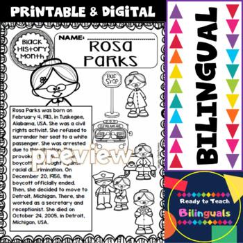 Black History - Influential People - Rosa Parks (Bilingual Set)