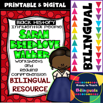 Black History - Influential People - Sarah Breedlove Walker (Bilingual Set)