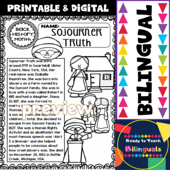 Black History - Influential People - Sojourner Truth (Bilingual Set)