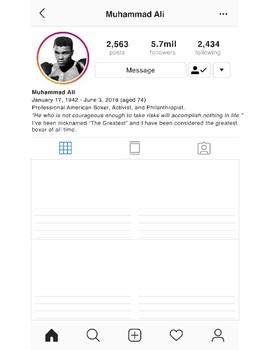 Black History Instagram Profile - Muhammad Ali