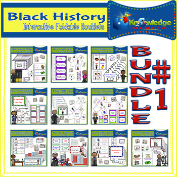 Black History Interactive Foldables Bundle #1