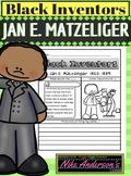Black History Inventors   Jan E. Matzeliger