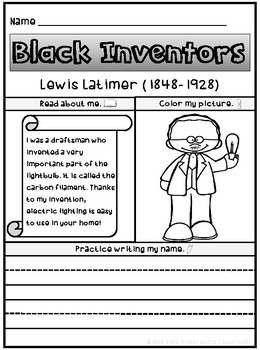 Black History Inventors | Lewis Latimer