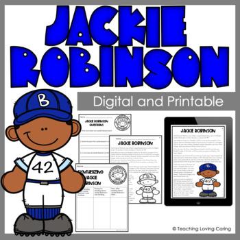 Black History Month Jackie Robinson Activity Set