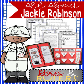 Black History - Jackie Robinson Biography Informational Text and Lapbook