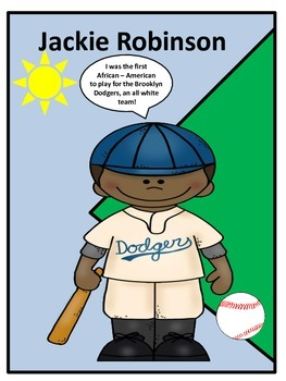 Black History Hero Jackie Robinson Biography and Fun Activities