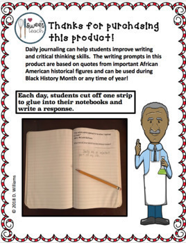 Black History Journal Prompts: Inspirational Quotes