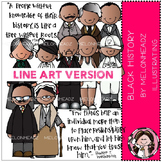 Black History clip art - LINE ART - by Melonheadz