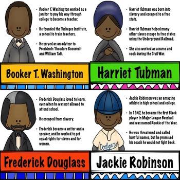 Black History Leaders Posters/Printables