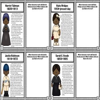Black History Leaders Workbook/Worksheets - Character Education