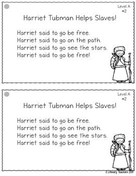 Black History! Leveled Quick Read Cards and Response Activities