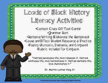 Black History Literacy Unit: Reading, Vocabulary, Writing, Poetry, & Grammar